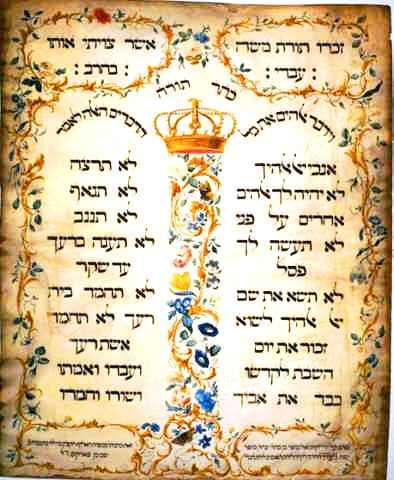 The Laws of Love, The Ten Commandments